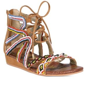 Sam Edelman Beaded Boho Girl's Sandals Sz 13